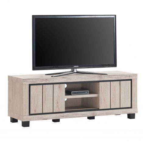 Meuble tv Elke 145cm 2 portes - chêne