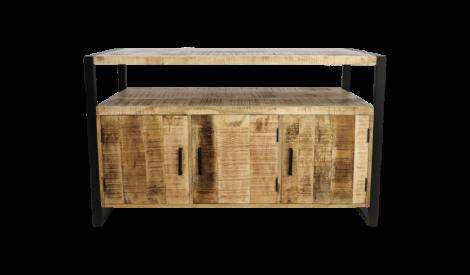 Buffet Havane - 3 portes - bois de manguier / fer