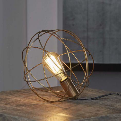 Lampe de table fil à bille en acier - Bronze antique