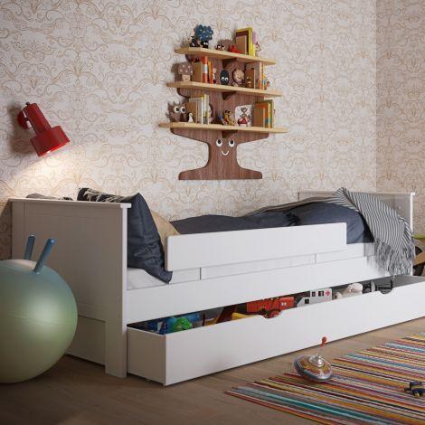Lit simple Alfie 90x200 cm - blanc