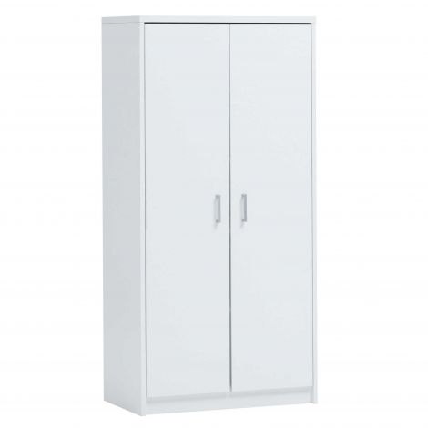 Armoire de rangement Spacio 2 portes et 5 tablettes - blanc
