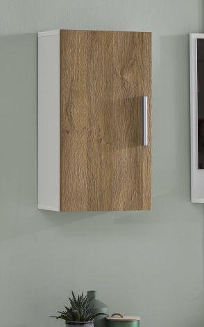 Armoire suspendue Casa - blanc/chêne vieilli