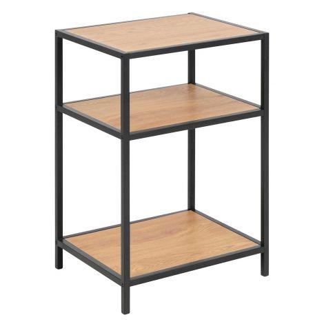 Table de chevet Dover - noir/chêne sauvage