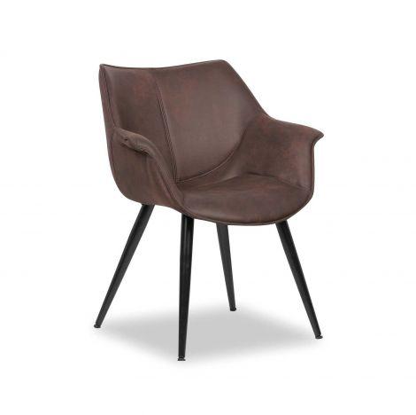 Chaise 'Milan' Brun (2 par boïte)