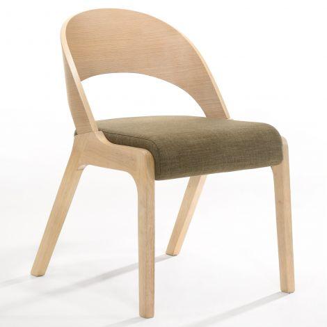 Jeu de 2 chaises Ulrike - chêne/brun