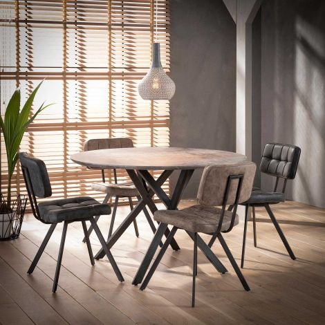 Table à manger Vie Ø120 - béton