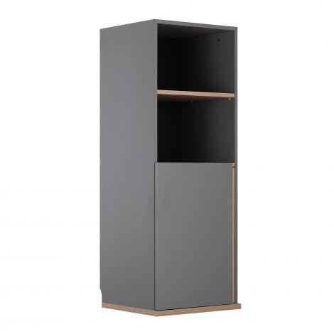 Armoire d'appoint Birger 1 porte 2 niches - gris