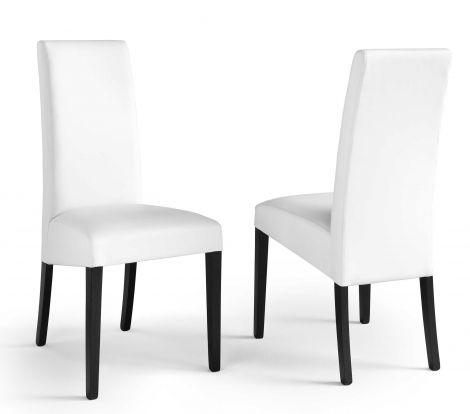 Set de 2 chaises Roko - blanc/noir