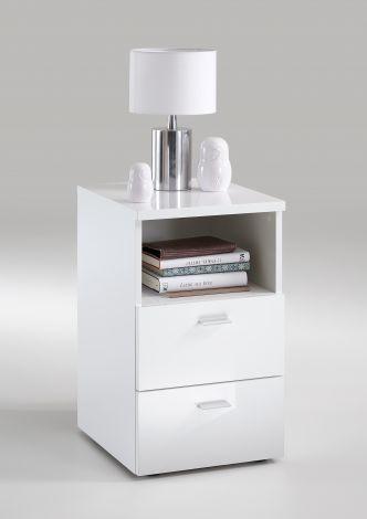Table de chevet Colleen - blanc brillant