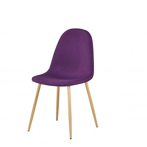 Lot de 4 chaises Yo - violet