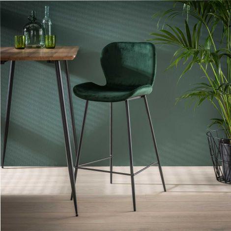 Set de 4 chaises de bar Vince - vert