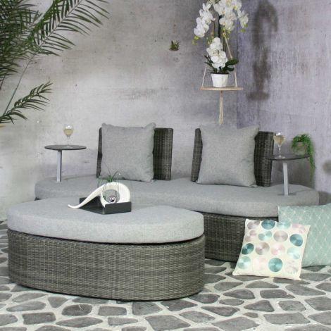 Salon de jardin Amos - gris