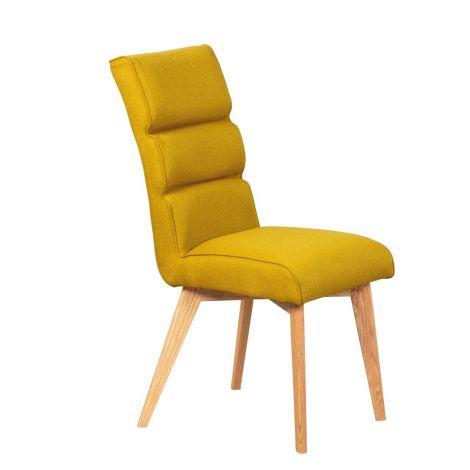 Lot de 2 chaises de salle à manger Skup - jaune