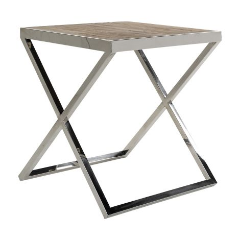 Table d'appoint Redon 55x55 - brun/gris