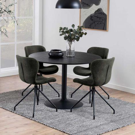Table à manger ronde Ibis ø110cm - noir