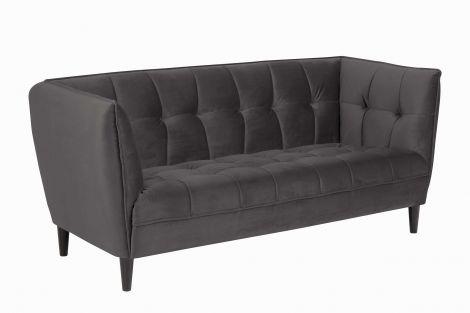 Canapé 2,5 places Don - gris foncé/noir