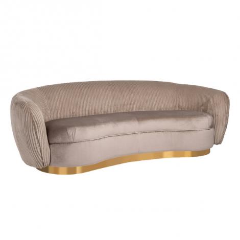 Canapé 3-sièges Waze velours - nougat