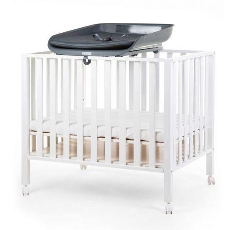 Plan à langer Evolux pour lit/parc bébé avec matelas à langer - anthracite