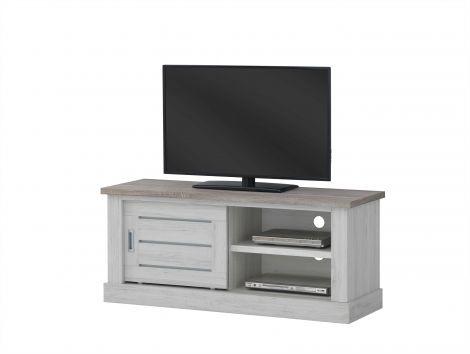 Meuble tv Eva 132cm - gris