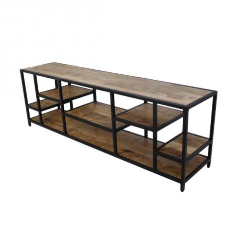 Meuble tv Levels 170cm - bois de manguier/fer