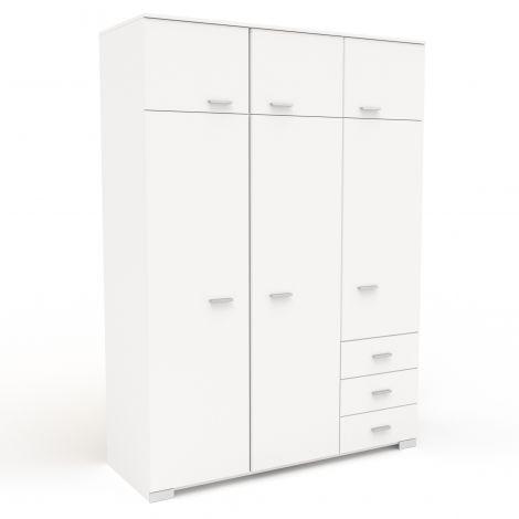 Garde-robe Gemma 6 portes - blanc
