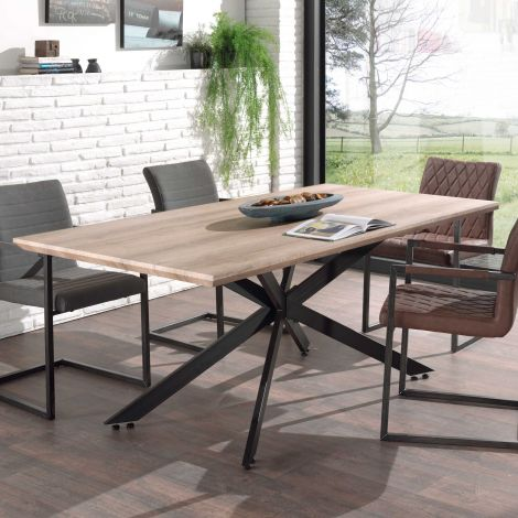 Table à manger Els 180x90 - chêne vieilli