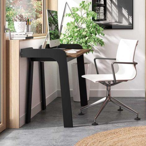 Bureau Maja 105cm - noir/noyer