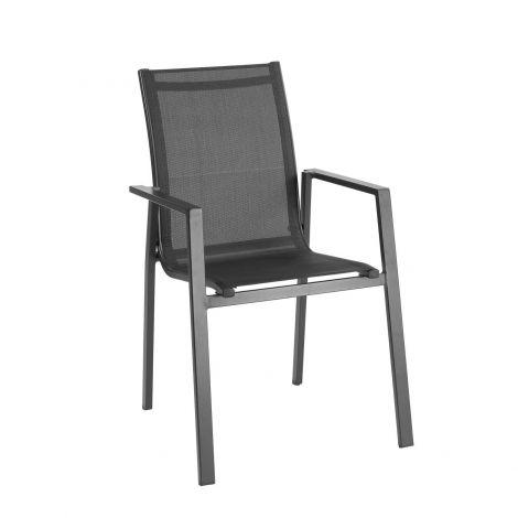 Chaise de jardin Perry - noir