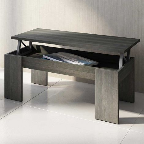 Table basse Ramos avec plateau relevable - anthracite