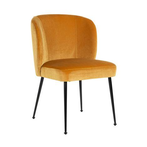 Chaise de salle à manger Fallon velours - or