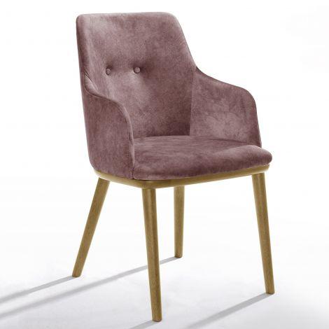 Jeu de 2 chaises Moussa - rose