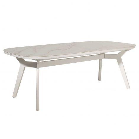 Table de jardin Ghana - blanc