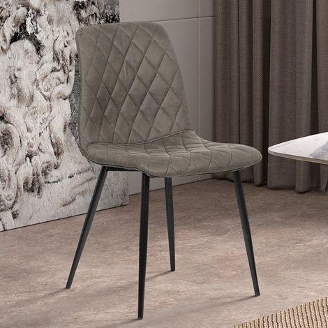 Lot de 2 chaises Maletto - gris