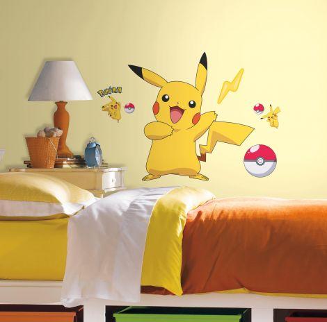 Sticker mural géant Pokémon Pikachu
