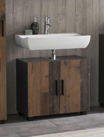 Meuble sous lavabo Casa - bois/graphite