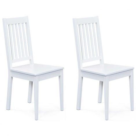 Lot de 2 chaises salle à manger Westerland - blanc