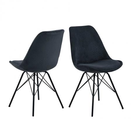 Lot de 2 chaises Erin - anthracite