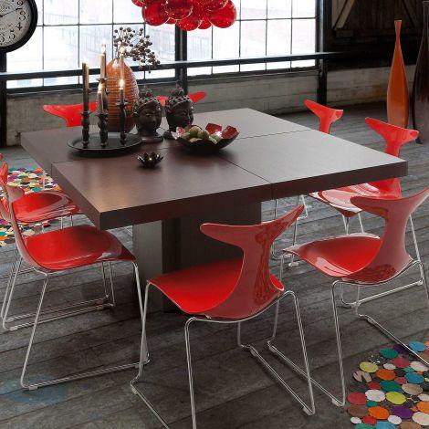 Table à manger Dusk 150x150 - brun