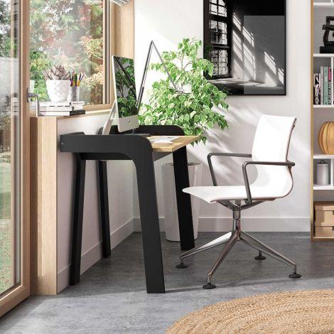 Bureau Maja 105cm - noir/chêne