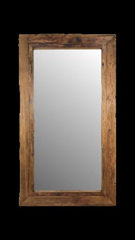 Miroir mural Rustic - 200x100 cm - bois flotté teck