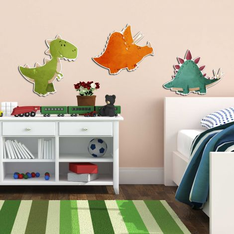 Stickers muraux 3D Dinosaure - mousse