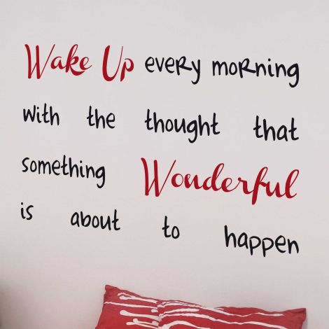 Sticker mural Wake Up