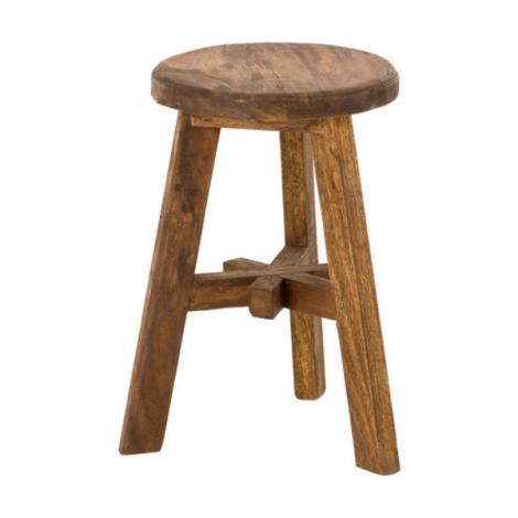 Tabouret Asterisk - antique/teck récyclé