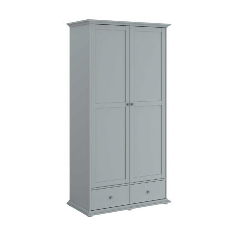 Armoire Morgane 2 portes - gris