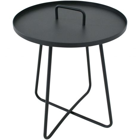 Table d'appoint Jennifer Ø50cm - anthracite