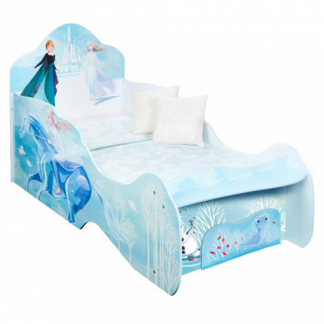 Lit junior La Reine des Neiges avec tiroir de rangement
