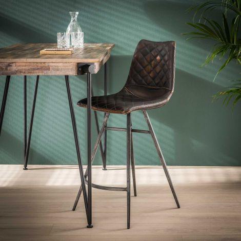 Chaise de bar Jolene - brun