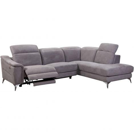 Canapé d'angle Novara avec fauteuil relax à gauche