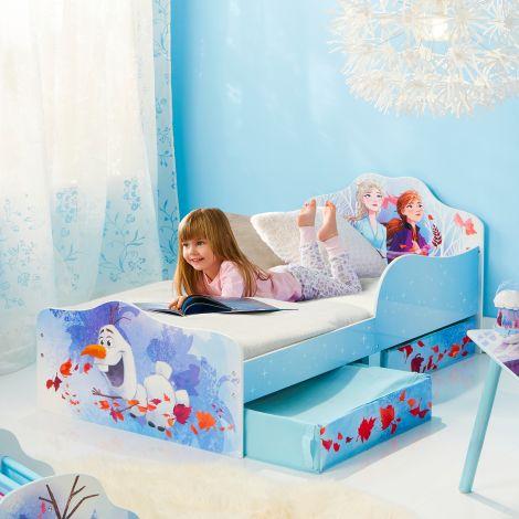 Lit junior La Reine des Neiges 2 avec tiroirs de lit