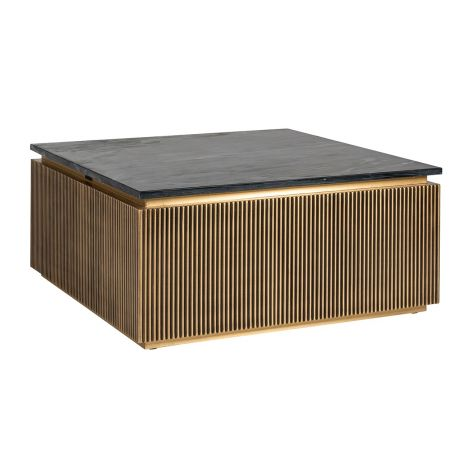Table basse Aarons 90x90cm - or